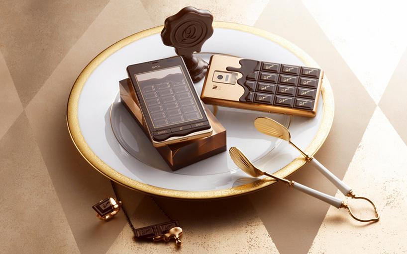 טלפון בעיצוב שוקולד
